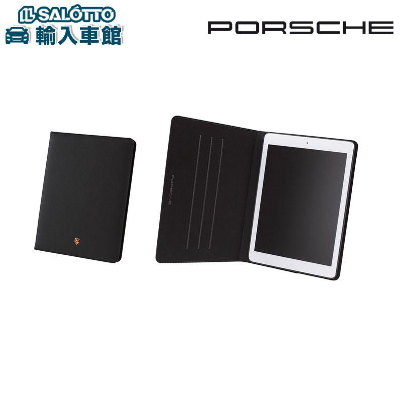 【 ポルシェ 純正 クーポン対象 】 iPad Air用ケース、スタンド機能付き(ブラック)ポルシェ オリジナルレザー使用