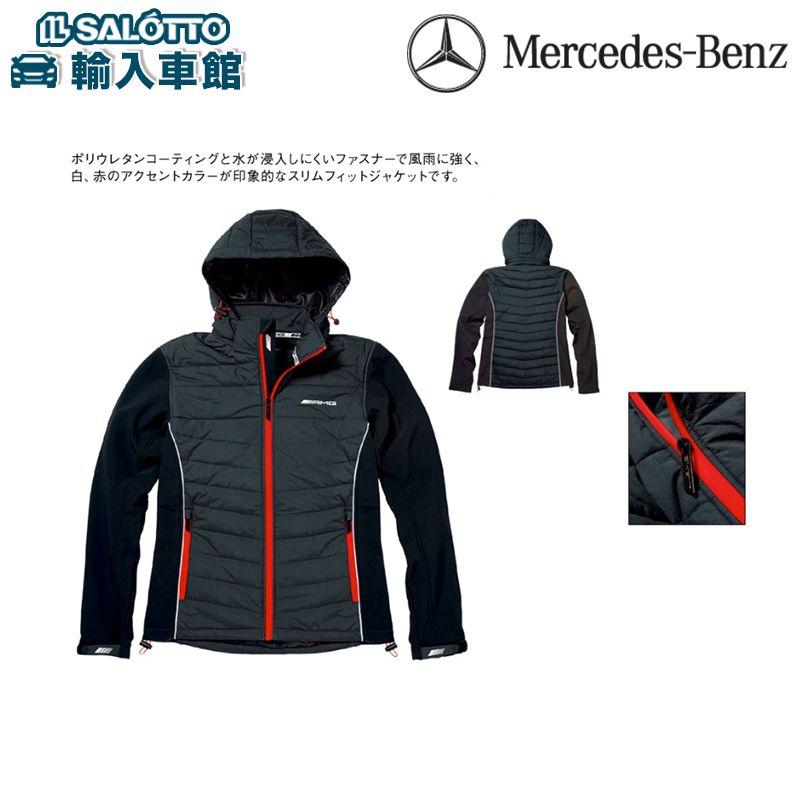【 ベンツ 純正 クーポン対象 】 AMG メンズ ジャケット フード取り外し可能 サイズ:S/M/L ポリウレタンコーティング スリムフィットジャケット