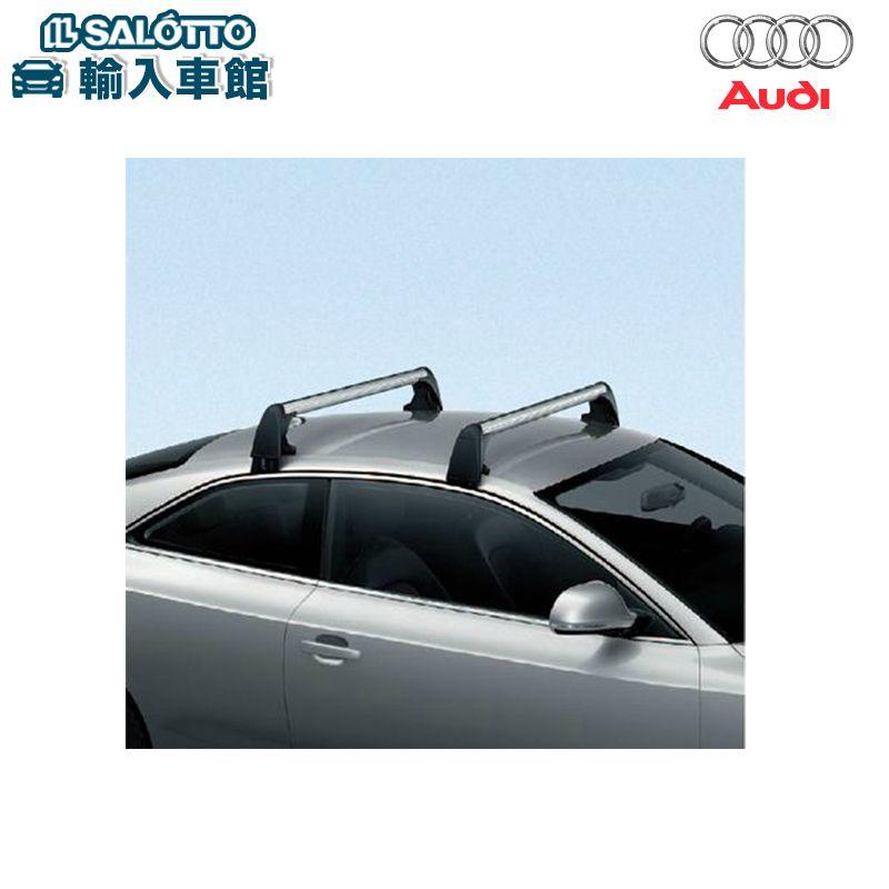 【 AUDI 純正 クーポン対象 】 A5 / A5SB 専用 ルーフバー トランスポート スポーツバック アウディ 専用 風切音を極力おさえた、軽量のアルミ製ルーフバーです 純正アクセサリー エンブレム デザイン original design option