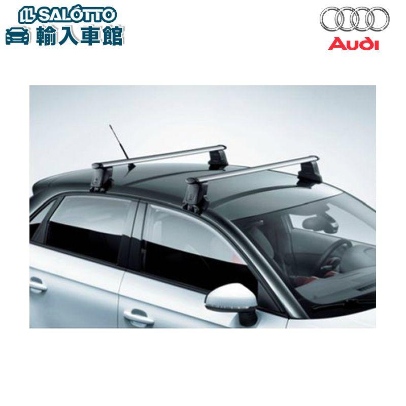 【 AUDI 純正 クーポン対象 】 A1 / A1SB 専用 ルーフバー トランスポート スポーツバック アウディ 専用 風切音を極力おさえた、軽量のアルミ製ルーフバーです 純正アクセサリー エンブレム デザイン original design option