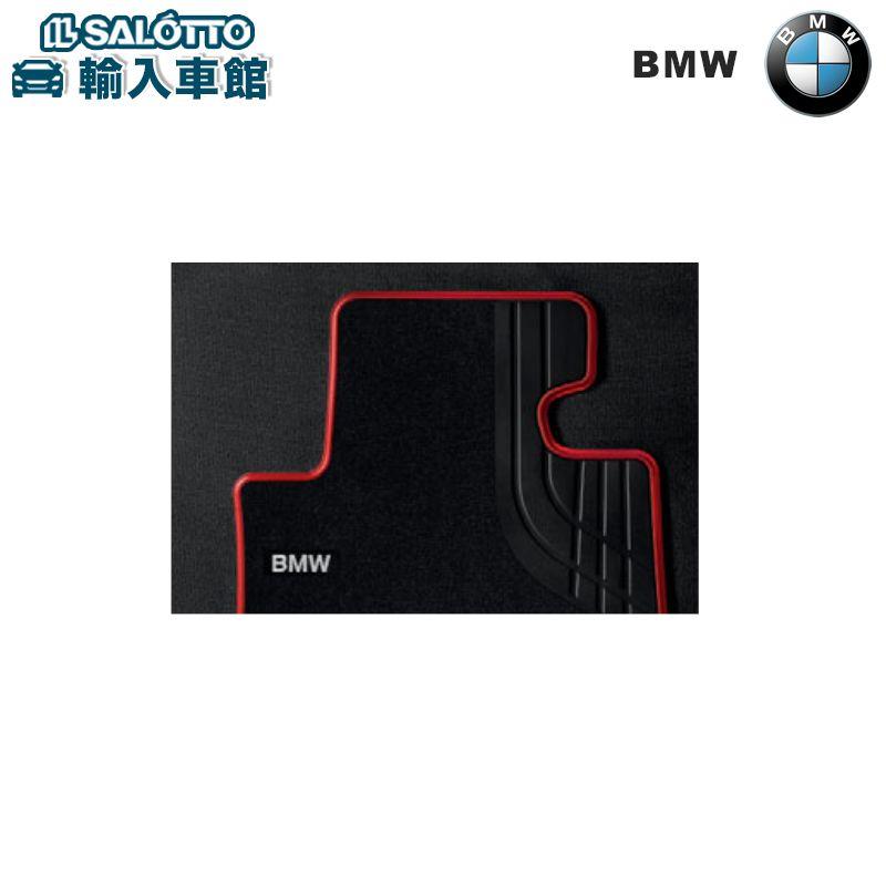 【 BMW 純正 クーポン対象 】 フロアーマット Textile ブラック/レッド(Sport)/リヤ・セット BMW 1シリーズ F20