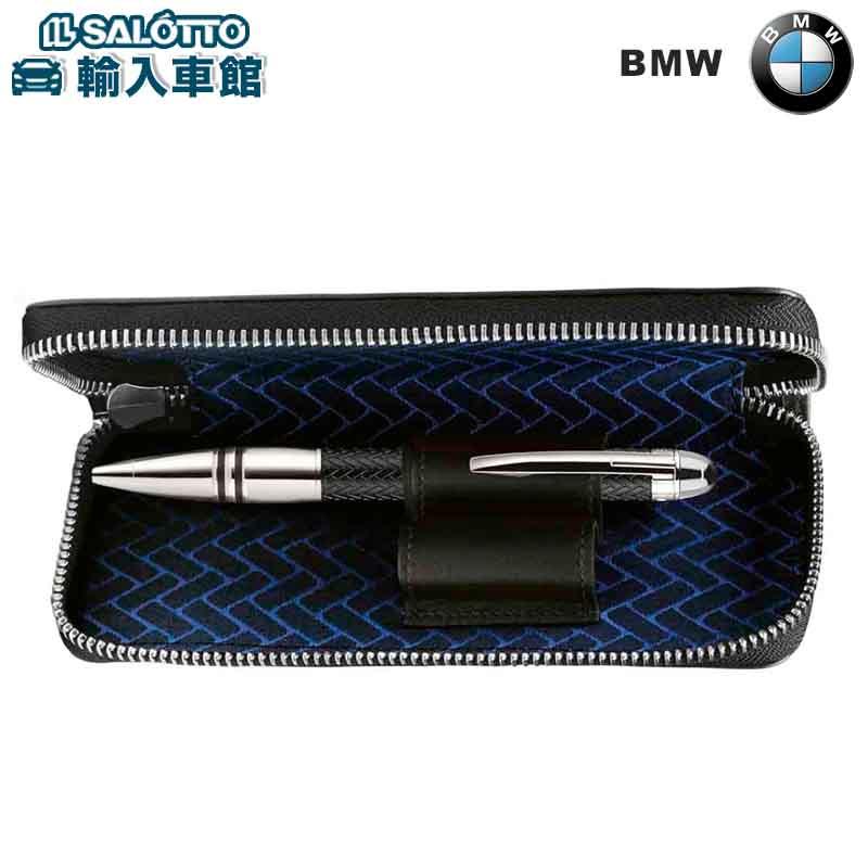 【 BMW 純正 クーポン対象 】MONTBLANC イタリア製 ペン ポーチ ブラック モンブラン ケース