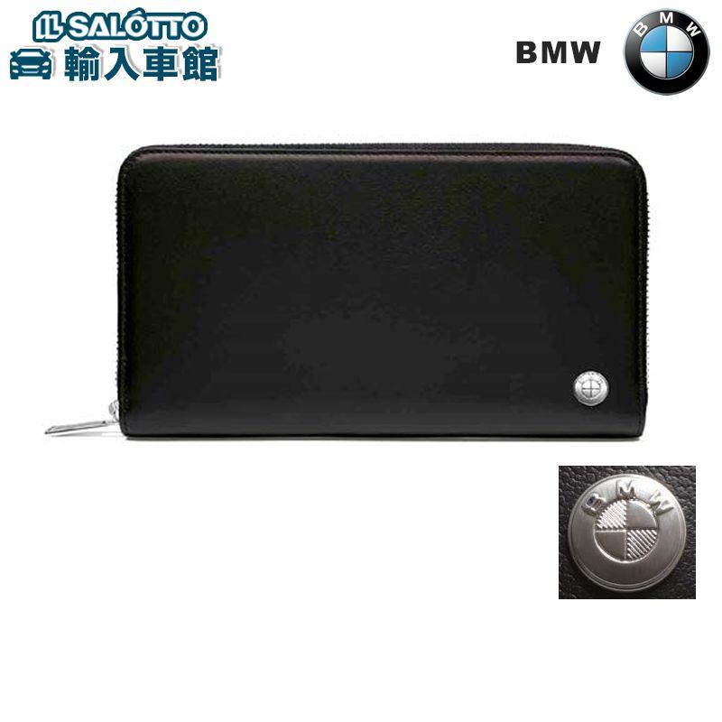 【 BMW 純正 クーポン対象 】 ウォレット 長財布 レザー 札入れ 1つ カードポケット 12枚収納 ジッパー付き コインポケット BMWアクセサリー グッズ