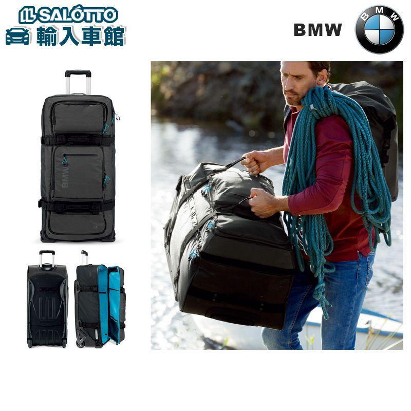【 BMW 純正 値引クーポン対象 】 トローリーケース キャリーバッグ アンソラジット OGIO製 サイズ:約87×41.4×33cm カラー:ブラック/ブライトブルー 耐水性 防水性 軽量 伸縮自在 の キャリーハンドルケース