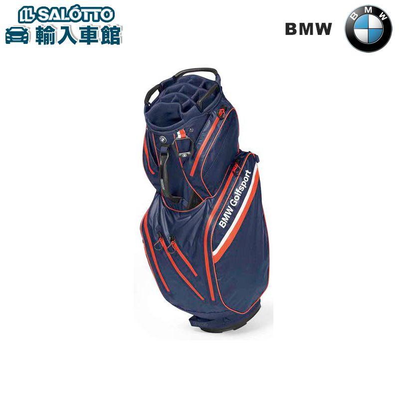 【 BMW 純正 値引クーポン対象 】 キャディ バッグ 約92x37cm 2.7kg ネイビー ブルー / ファイア オレンジ / ホワイト Golfsport Collection