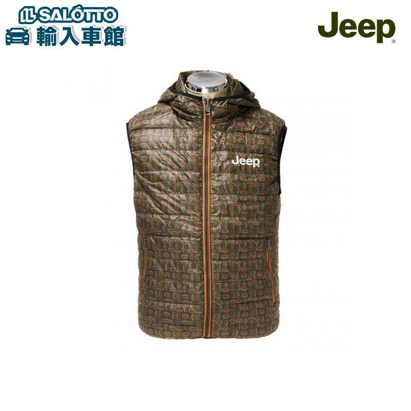 【 JEEP 純正 クーポン対象 】 Jeep® リアルダウンベスト サイズ:M-XL / フード付きリアルダウンベスト リバーシブル ジープ コレクション ロゴ入り