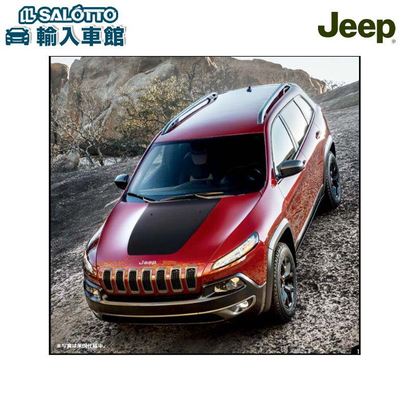 【 JEEP 純正 クーポン対象 】フードデカールマットブラック 適合:チェロキー Cherokee/ステッカー