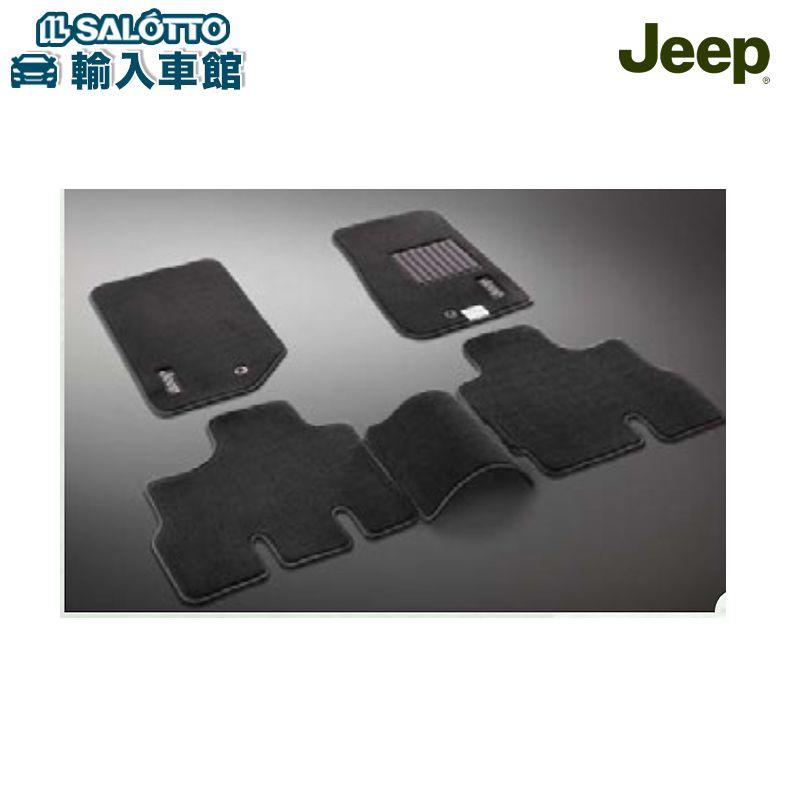 Jeep オリジナル ジープ アクセサリー JEEP 純正 フロアマット 予約販売 ブラック アンリミテッド 至上 プレミアム JK 4ドア ラングラー マット