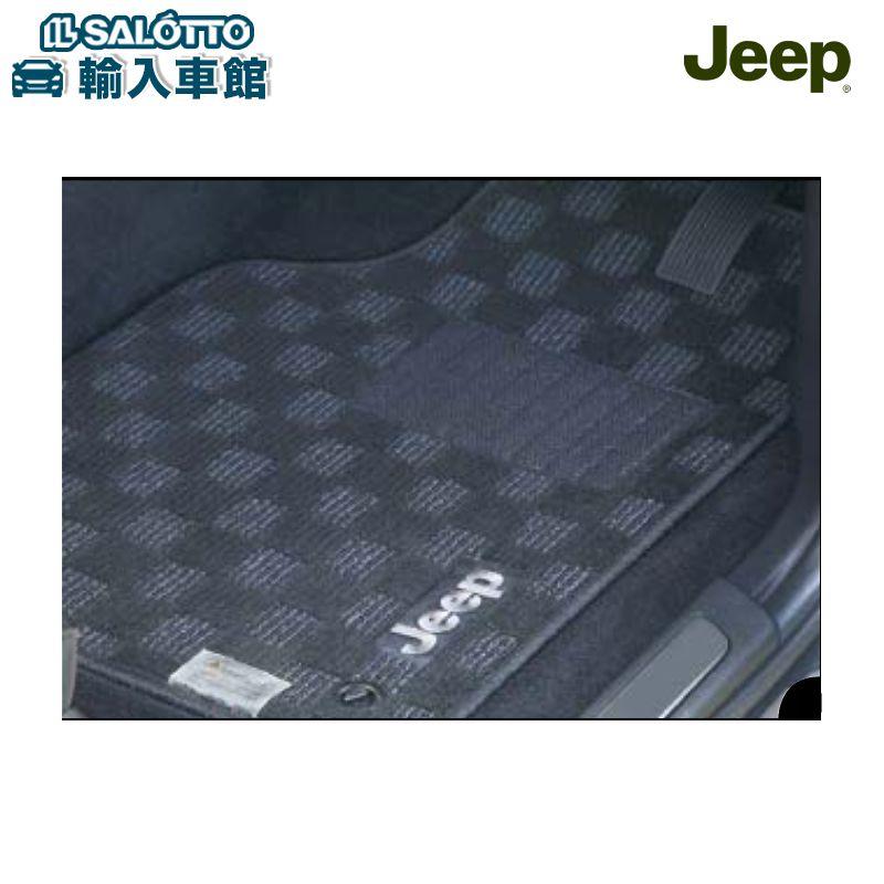 【 JEEP 純正 クーポン対象 】フロアマット チェック ブラック/グレー(取付フックタイプ)フロントとリアの左右、リアセンターの5枚セット 適合:グランドチェロキー Grand Cherokee/