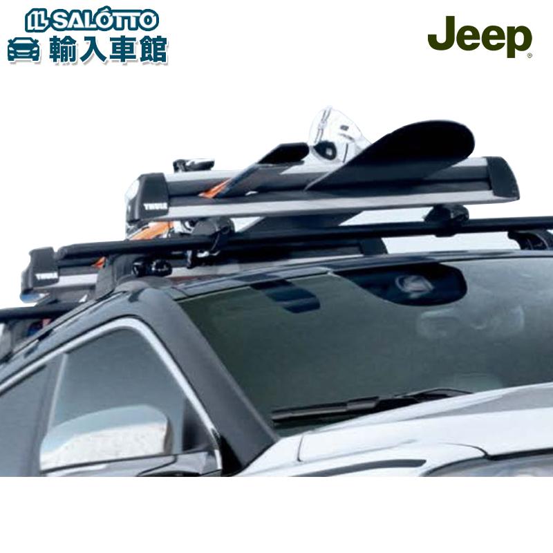 【 JEEP 純正 クーポン対象 】スキー スノーボード キャリア 2ドア4ドア共通 適合:コンパス JL ラングラー アンリミテッド / スノボ スキー 車 アタッチメント