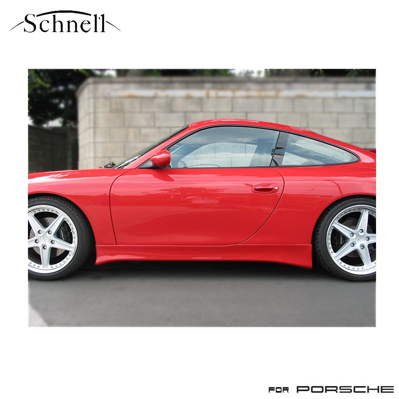 《 schnell 》ポルシェ 996 カレラ サイドスカート FRP 黒ゲル仕上げ ※ Porsche 996 Carrera Side Skirt《 シュネル 》