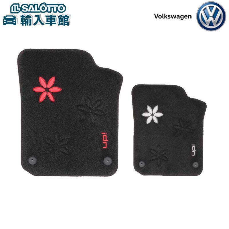 【 VW 純正 クーポン対象 】フロアマット フラワー(レッド/ホワイト)(フロント左・右、リヤ左・右/1セット)up!