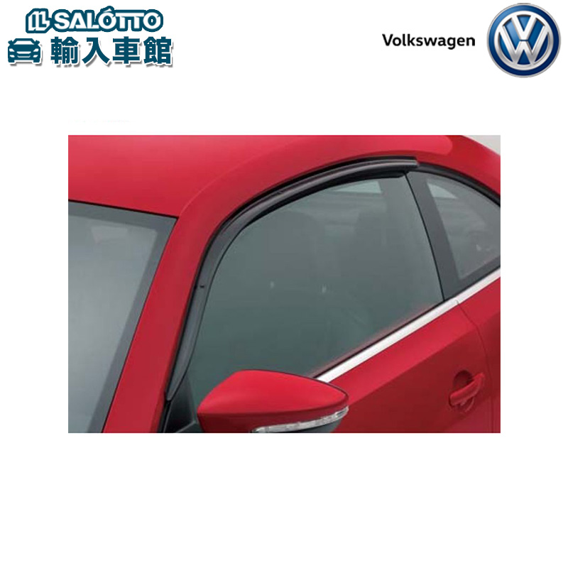 【 VW 純正 クーポン対象 】サイドバイザー 雨よけ 耐衝撃性 アクリル製 雨天走行時の室内換気に便利The Beetle