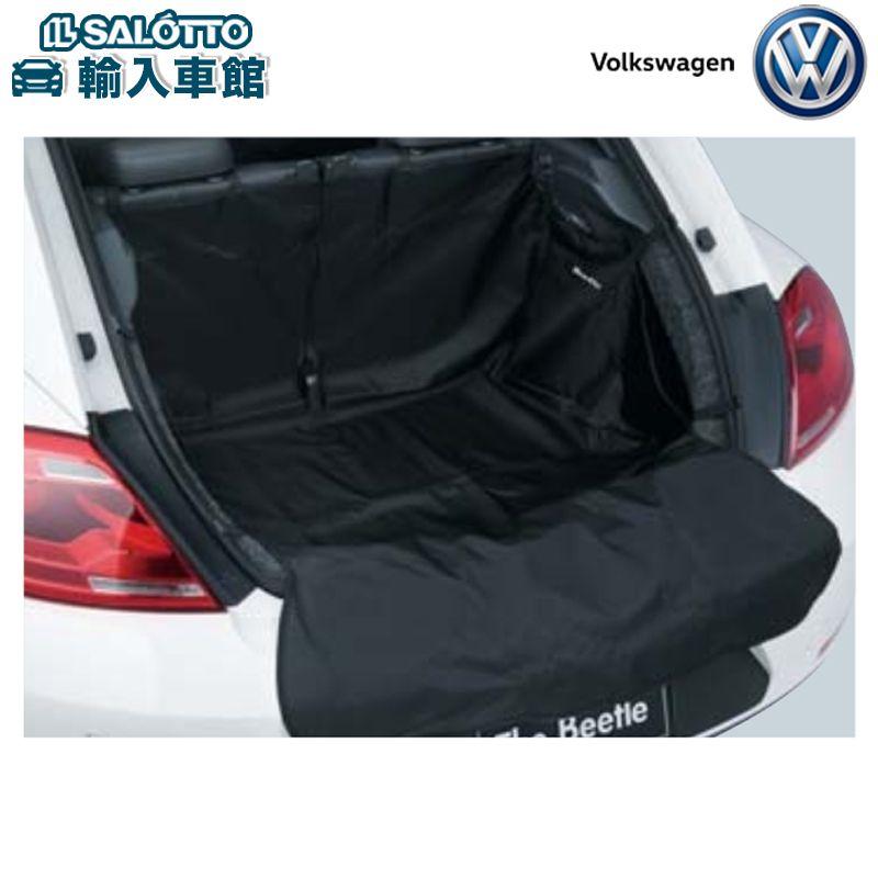 【 VW 純正 クーポン対象 】ラゲージカバー(カラー:ブラック Beetleロゴ刺繍付)ラゲージスペース全体とリヤバンパーを保護することができるマットThe Beetle