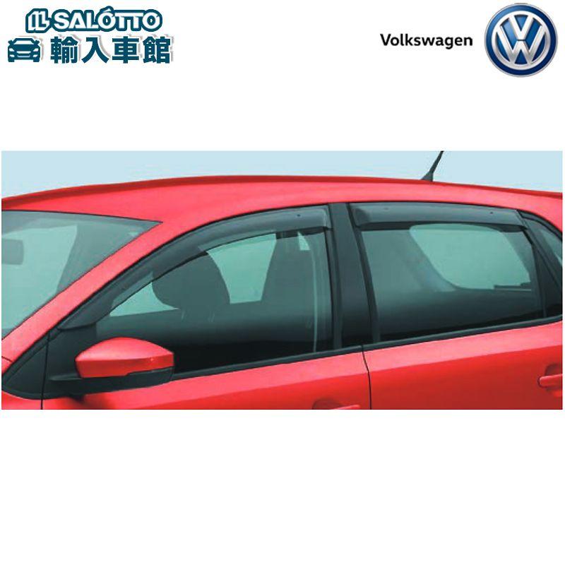フォルクスワーゲン オリジナル アクセサリー 時間指定不可 VW 純正 サイドバイザー ポロ 換気 フロント左右 激安通販販売 雨よけ 日除け 6R型 リヤ左右 2010~2017年