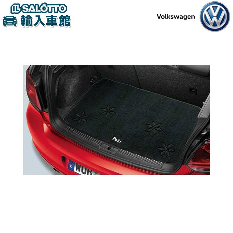 【 VW 純正 クーポン対象 】ラゲージ マット(花柄 フラワー カラー:ダークグレー、Polo刺繍入り)Polo