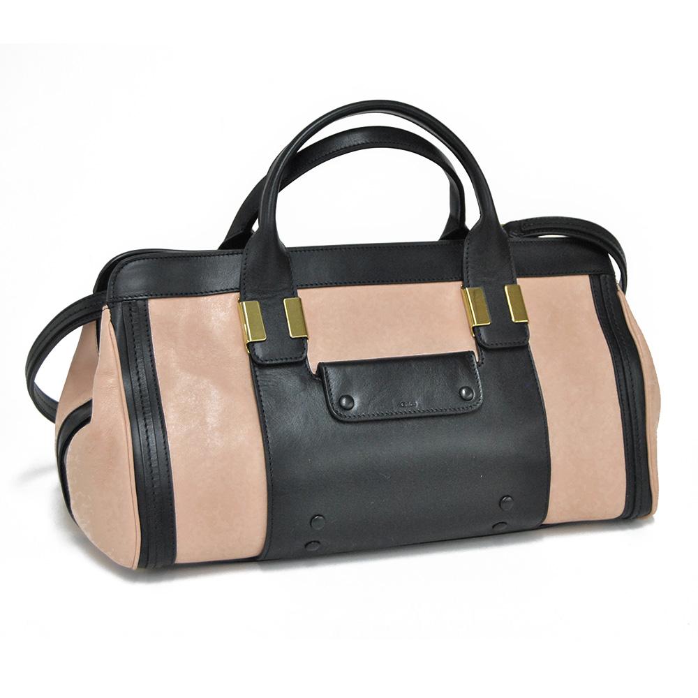 "CHLOE ' / Chloe ""ALICE-Alice"" MEDIUM SHOULDER, medium shoulder and 2-WAY shoulder handbags Boston bag (pink Anemone) 3S0161 703 45M/ANEMONE PINK"