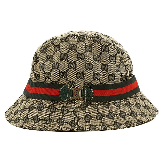 【クーポンで10%OFF】グッチ/GUCCIGGキャンバス×ウェビングデザイン・レディースハット・帽子(ベージュ×ネイビー)149349 28867 4061