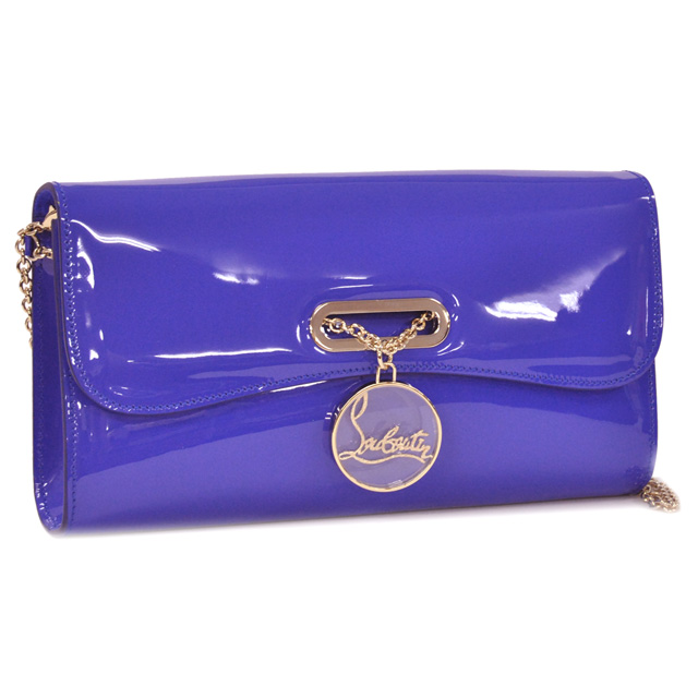 "CHRISTIAN LOUBOUTIN / Christian Louboutin ""CLUTCH RIVIERA, Riviera clutch and patent"" 2-WAY clutch chain shoulder (purple) 3101024 U070/PERVENCHE"