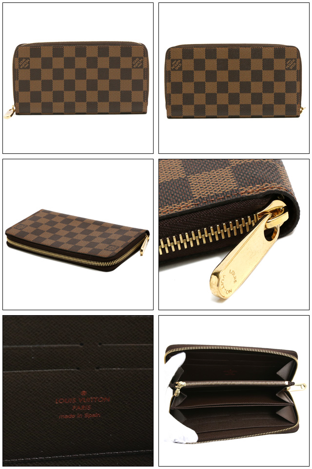 Size □ W  19.5  H  11.0  D  2.5 ※(width X height X gusset cm) color □ DAMIER  (ダミエ) □ metal fittings   gold specifications □ opening and shutting  ... c918973116a8