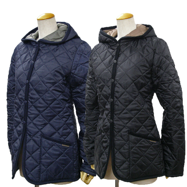 Quilted jacket navy ladies
