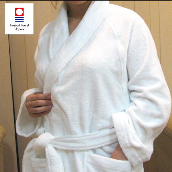 今治タオル ショールネック バスローブ 5色 フリーサイズ 着丈105cm 綿100% 名入れ・刺繍(要別途料金)