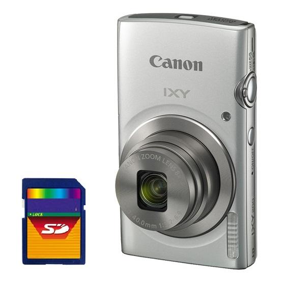 【送料無料】【SDHCカード8GB付き】キヤノン Canon デジカメ イクシー IXY200 約2000万画素 光学8倍ズーム IXY 200SL シルバー【***特別価格***】