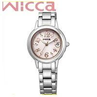 【送料無料】シチズン CITIZEN ウィッカ wicca ソーラーテック電波時計 KL0-014-11