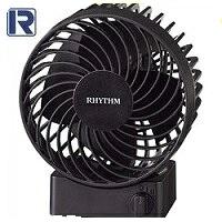 選択 3D羽根搭載でさらに 風力 休み 静音 が向上 送料無料 RHYTHM リズム時計 シルキーウインド 黒 USB接続式 新2重反転ファン S 9ZF017RH02 Silky 卓上扇風機 Wind