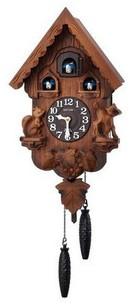 【送料無料】【日本製】RHYTHM・リズム時計 掛け時計 鳩時計 カッコーパンキーR 4MJ221RH06