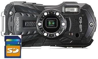 【送料無料】リコー RICOH WG-60BK 防水 耐衝撃 防塵 耐寒 アウトドア デジカメ WG-60 ブラック【***特別価格***】【リコー WG-50の後継機】
