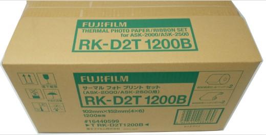 【送料無料】FUJIFILM・フジフィルム サーマルフォトプリントセット RK-D2T1200B [KGサイズ] ASK-2500/2000・プリンチャオEX2/EX3用