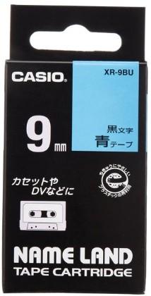 【ゆうパケットで送料無料】【代引き不可】CASIO・カシオネームランド用 スタンドテープ XR-9BU ブルー