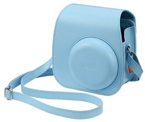 交換無料 FUJIFILM フジフィルム チェキ11 国内即発送 instax mini11用 カメラケース ブルー 速写ケース 特別価格 バッグ チェキケース