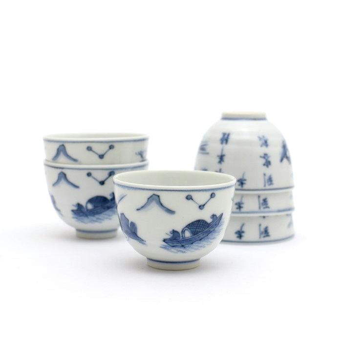 染付 煎茶碗 6客 春峰 kak