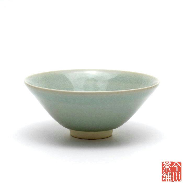 緑釉茶碗 平 守崎正洋作【抹茶茶碗 夏】
