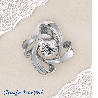 【送料無料(沖縄・離島を除く)】NY-T014 クロスフォー ニューヨーク Dancing Stone Spiral1(スパイラル) タイニーピン NYT014【お取り寄せ品】【ジルコニア】