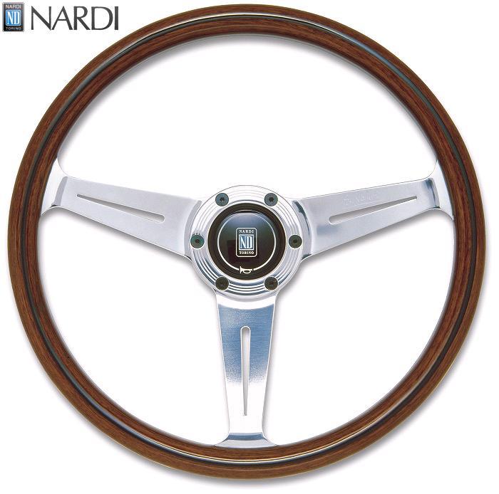 NARDI ナルディ N161 Viteウッド&ポリッシュスポーク ステアリング 径360mm NARDIホーンボタン、ホーリング付【お取り寄せ商品】【ハンドル、ステアリング】