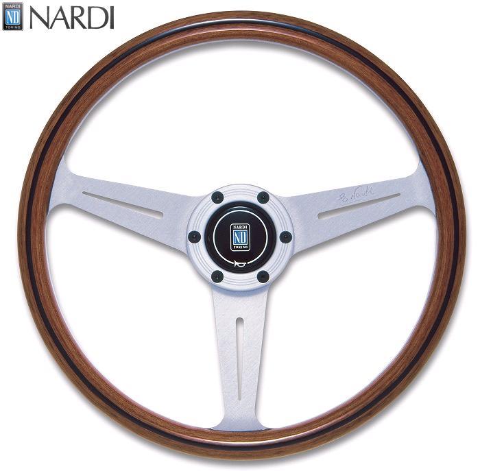 NARDI ナルディ N160 Viteウッド&シルバースポーク ステアリング 径360mm NARDIホーンボタン、ホーリング付【お取り寄せ商品】【ハンドル、ステアリング】