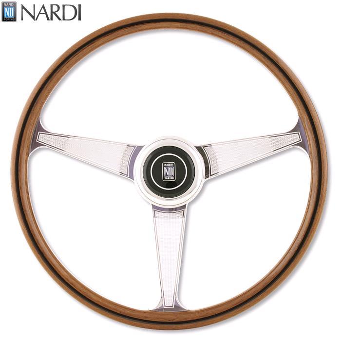 NARDI ナルディ レブリカライン ANNI60 ウッド&ポリッシュスポーク ステアリング 径380mm NARDIホーンボタン付属【お取り寄せ商品】【ハンドル、ステアリング】