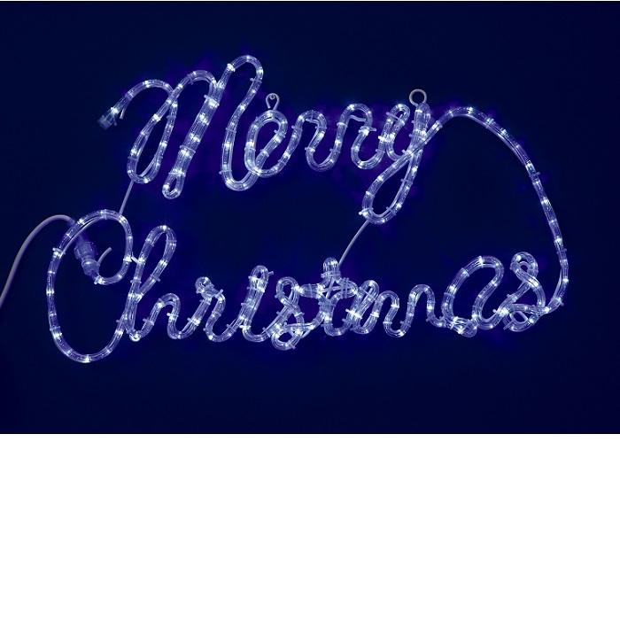 【送料無料(沖縄・離島を除く)】フローレックス KT-2580 Merry Christmas ホワイトLED ライト KT2580【メーカー直送品】【同梱/代引不可】【FLOREX・イルミネーション・店舗装飾】