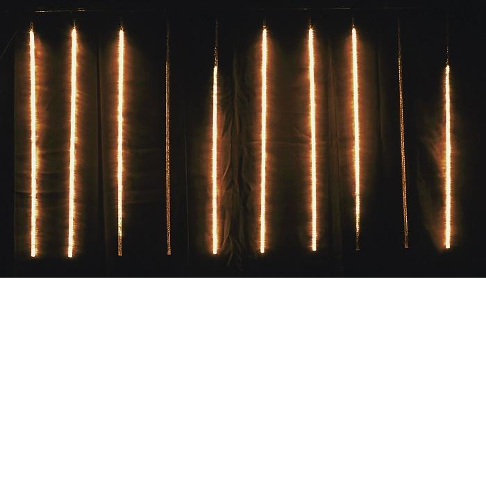 【送料無料(沖縄・離島を除く)】フローレックス KT-2422 ゴールドLEDスノーフォールライト(100cm × 10本) KT2422【メーカー直送品】【同梱/代引不可】【FLOREX・イルミネーション・店舗装飾】