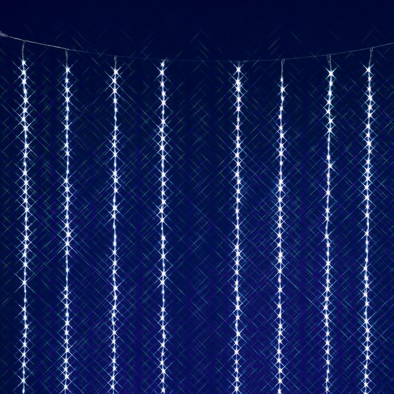 【送料無料(沖縄・離島を除く)】フローレックス KT-3067 2M×3M ホワイトLEDカーテンドレープ KT3067【メーカー直送品】【同梱/代引不可】【FLOREX・イルミネーション・店舗装飾】