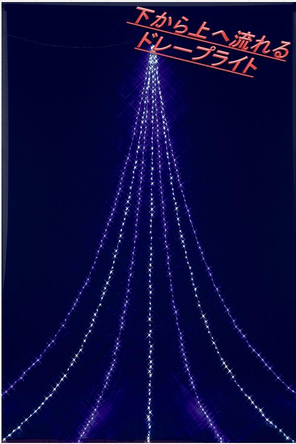フローレックス KT-2650 5M ホワイトブルーLED アップエフェクトドレープライト KT2650【送料無料(北海道・沖縄・離島を除く)】【メーカー直送品】【同梱/代引不可】【クリスマス・イルミネーション・店舗装飾】