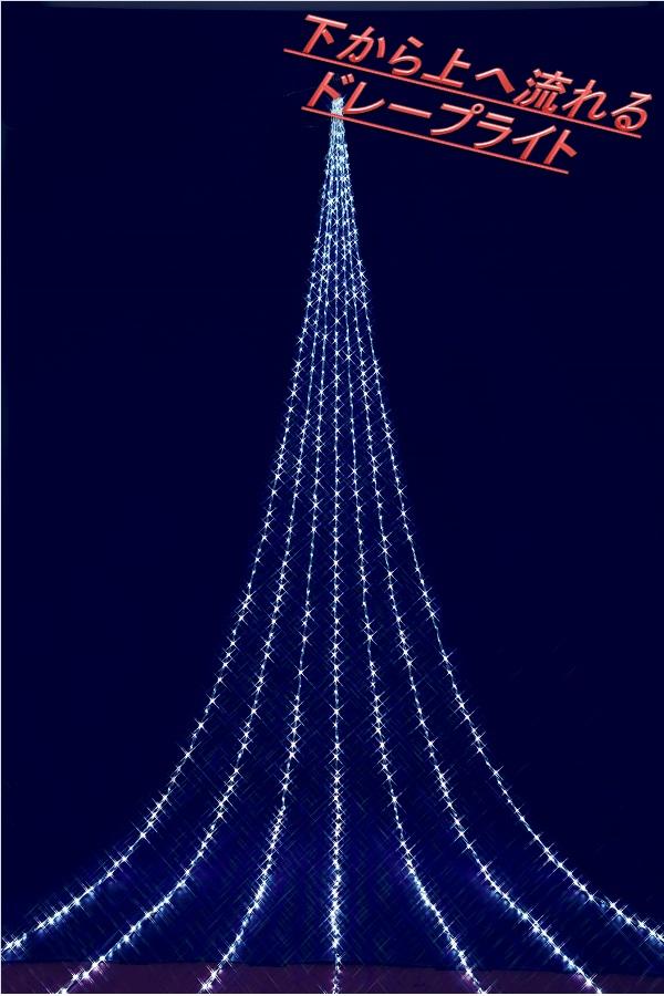 フローレックス KT-2651 5M ホワイトLED アップエフェクトドレープライト KT2651【送料無料(北海道・沖縄・離島を除く)】【メーカー直送品】【同梱/代引不可】【クリスマス・イルミネーション・店舗装飾】