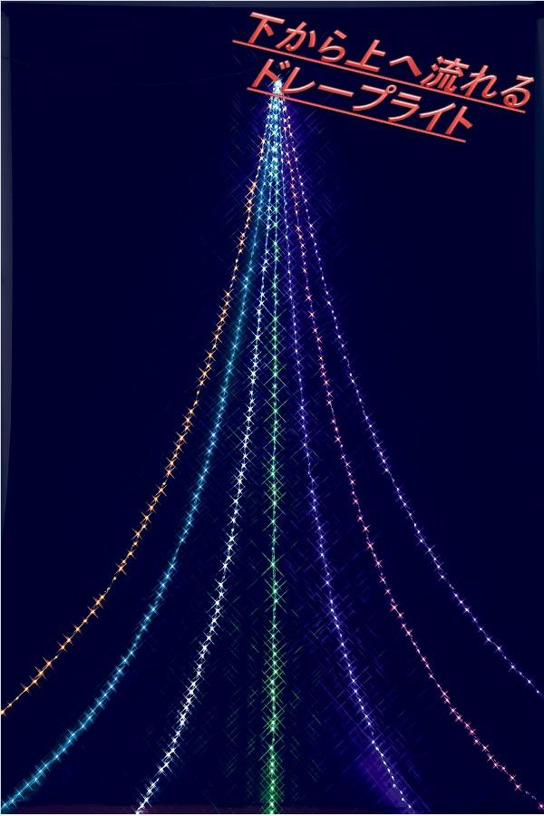 フローレックス KT-2658 5M スーパーマルチLED アップエフェクトドレープライト KT2658【送料無料(北海道・沖縄・離島を除く)】【メーカー直送品】【同梱/代引不可】【クリスマス・イルミネーション・店舗装飾】