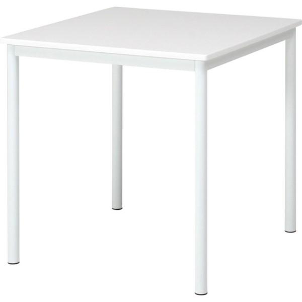 【84132】ダイニングテーブル シュクル W75  ホワイト 【メーカー直送】【代引き/同梱包不可】【ソファー/ベッド/リビング/テーブル/不二貿易】
