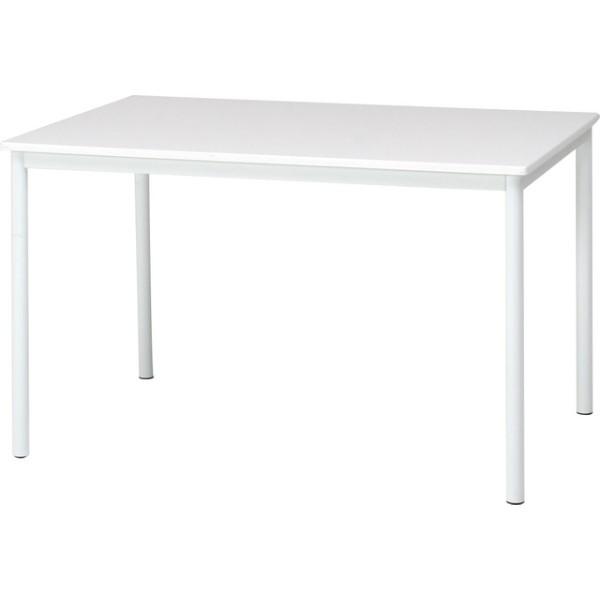 【84133】ダイニングテーブル シュクル W120  ホワイト【メーカー直送】【代引き/同梱包不可】【ソファー/ベッド/リビング/テーブル/不二貿易】
