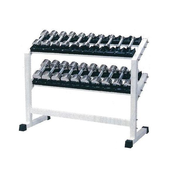 【別途送料が掛かります(K)】RSS-5500 ステンレスダンベル・ラック付セット1kg~10kg付(6~10kg回転式)【メーカー直送品】【同梱/代引き不可】
