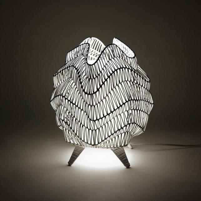 【送料無料(北海道・沖縄・離島を除く)】イシグロ 20027 ラタンランプ B ホワイト【メーカー直送製品】【ムードランプ・照明・ライト】